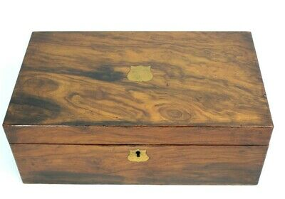 Antique Victorian Rosewood Writing Slope Stationery Box - FREE Shipping [5332]
