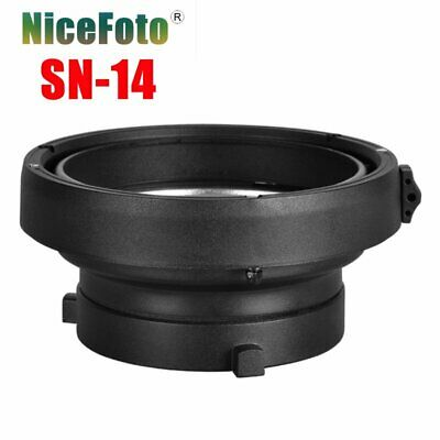 NiceFoto SN-14 Bowens Mount to Elinchrom Mount Adapter Ring For Flash Light
