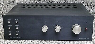 HARMAN KARDON Citation Seventeen S (17S) VINTAGE PREAMPLIFIER, GREAT PHONO STAGE