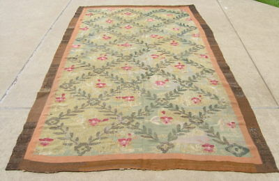"""Antique Aubusson Tapestry 111x65"""" Minnesota Historical Society Mary Griggs Burke"""