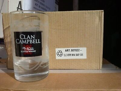 6 verres à whisky Clan Campbell Baby