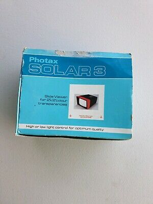 Photax solar 3 slide Viewer + box free post