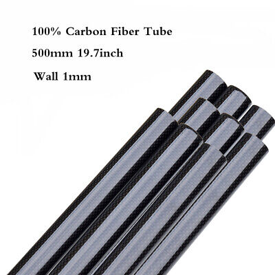 "Dia36-50mm Wall 1mm 3K Carbon Fiber Tube Pipe Glossy Surface Roll Wrapped 20"" UK"