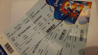 Ticket Cameroun Cameroon Pays Bas Netherlands Nederland World Cup 2019 WM WC 22