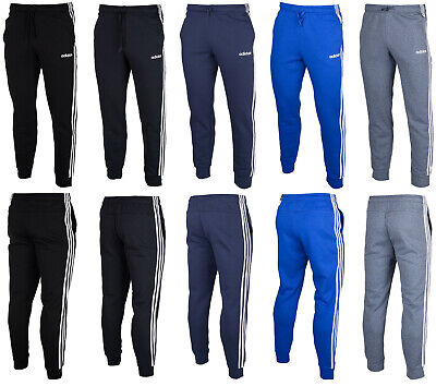 Adidas mens Essentials 3-Stripes pants bottoms tapered