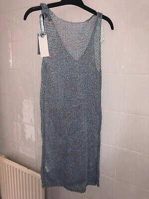 4f255aecb8cd LADIES BNWT GLITTER JUNKIE PRIMARK MERMAID CROCHET COVER UP DRESS 6/8 New