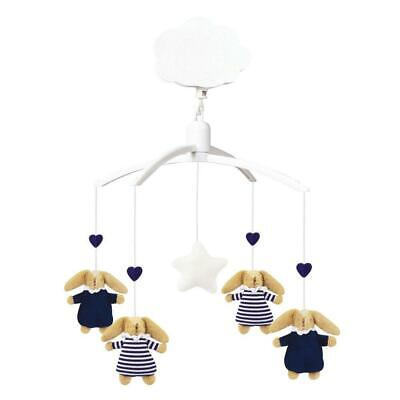 """Trousselier - Mobile Musical - Lapin """"Nid d'Ange"""" - Chambre Marine"""