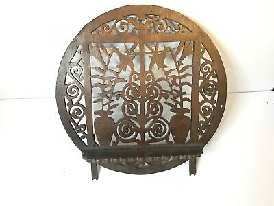 Antique Chinese Display Shelf Carved Pierced Wood Wall Shelf Bracket Shelf
