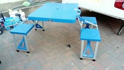 Fold-up Picnic / Camping Table & 4 Chairs -