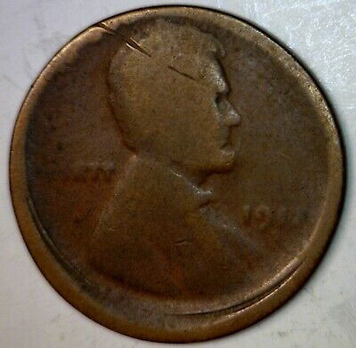 1917 d ERROR OFF CENTER Lincoln Cent Coin O/C Penny LOT # 1917d     NO RESERVE