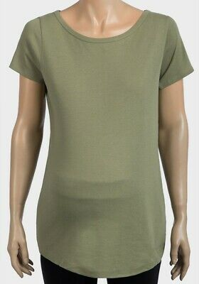 Brand New LADIES GREEN Light Weight Maternity T-Shirt - SIZE 18