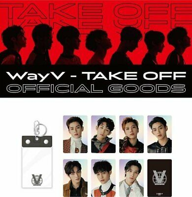 [Pre-Order] NCT WayV TakeOff official goods: PHOTO KEYRING + HOLOGRAM CARD