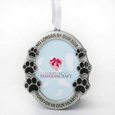 Pet Memorial Ornament ~ No Longer by Our Side, Forever in Hearts