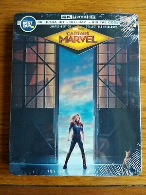 Captain Marvel SteelBook (Blu-ray/DVD/Digital) NEW SEALED