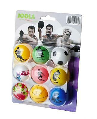 JOOLA FAN Balles de tennis table Blister 9 balles Multicolore