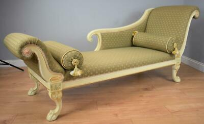 Large Regency Style vintage Chaise lounge/sofa
