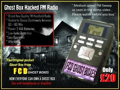 Genuine FCD Ghost Box FM Radio Sweep Spirit hacked Radio The Original