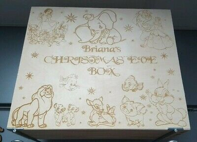 Personalised And Engraved Disney Christmas Eve Wooden Box