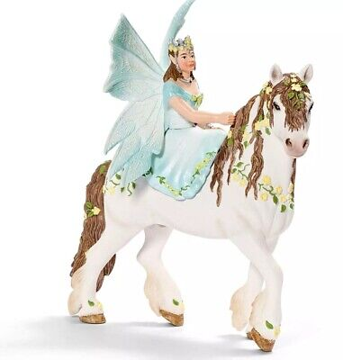 Brand New Schleich Eyela On Horseback Playset Fairy 70452