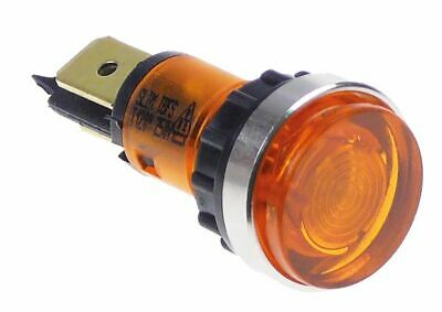 Indicator Light D 12Mm 230V Yellow Connection Male Faston 6.3Mm