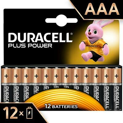 Duracell Plus Power Piles Alcalinestype AAA, Lot de 12 piles Pack of 12