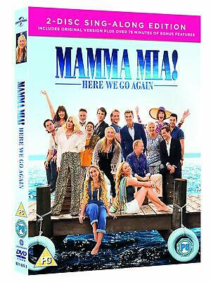 Mamma Mia! Here We Go Again 2-Disc Sing-along Edition (2018) NEW (NOT SEALED)