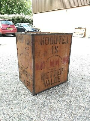 Tea Crate MM Branded Vintage Wooden Box
