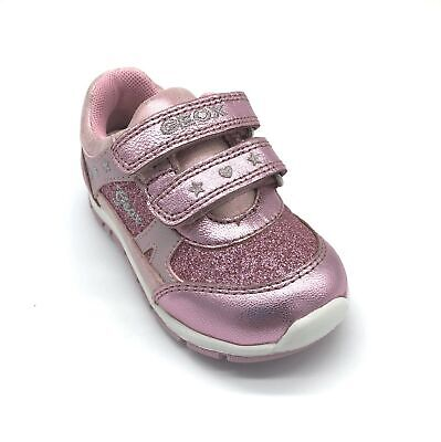 Geox Baby Shaax Girl's Trainers Pink Glitter 50% OFF RRP