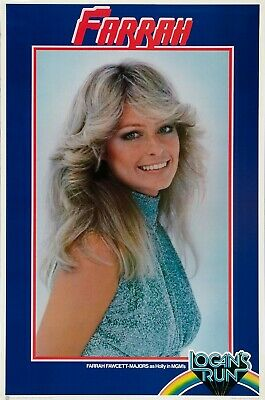 "1976 FARRAH FAWCETT HOLLY LOGAN'S RUN Movie Silk Poster  27""x40"""
