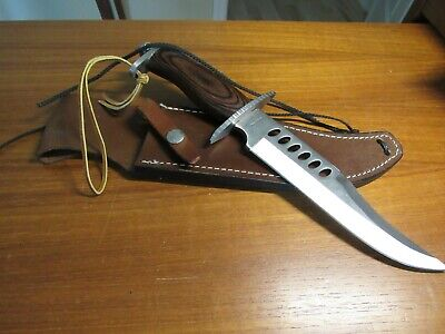 Frost Cutlery Crocodile Bowie Knife + Leather Sheath NEW NEVER USED OR SHARPENED