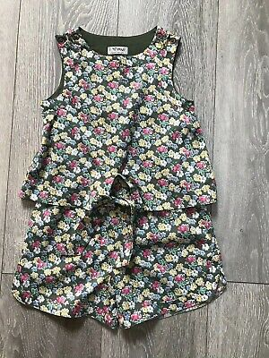 Next Girls Green Floral Playsuit Age 4 Years