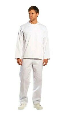 """+ PortWest Mens Baker Food Catering Chef Trousers White Baking Medium 31"""" 75,"""