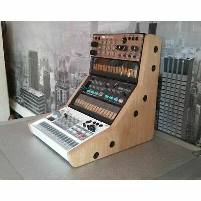 Synths & Wood Oak Veneered End Cheeks Triple Stand MK1 For Korg Volca Series ...