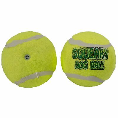 2pk Pet Dog Squeaky Tennis Ball Toy Fetch Throw Play Fun Chase Chew Puppy New