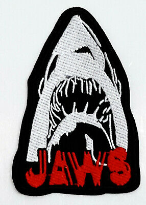 """JAWS Movie Shark Logo  3.5"""" Embroidered Patch- Mailed from USA (APPA-04)"""