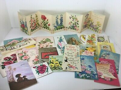 Lot of 24 Unused Vintage Greeting Cards w/ Envelopes New Old Stock