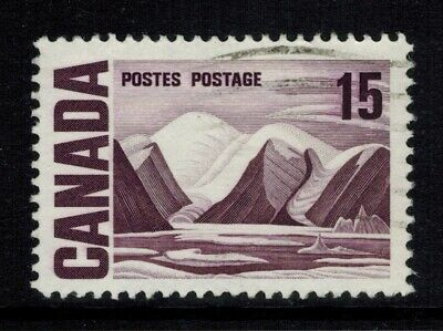 Canada #463 vi, 1967 15¢ Plastic Flow Variety, Strong Doubling, Used VF