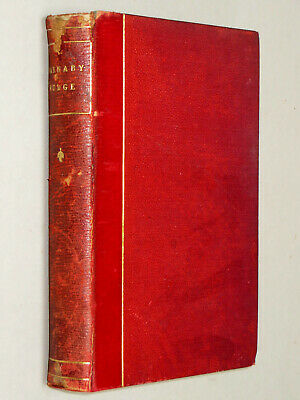 BARNABY RUDGE - Charles Dickens (circa 1870) Illustrated Leather Bound book