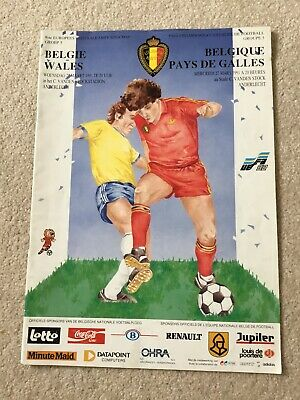 Belgium V Wales Official Match Programme 1991. Euro 92 Qualifiers
