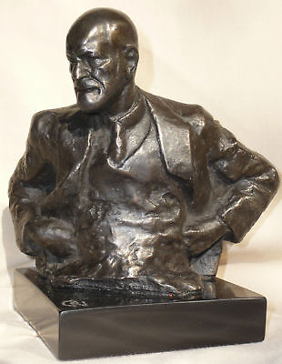 Freud The Thinker Oscar Nemon Hand Cast Signed Bust