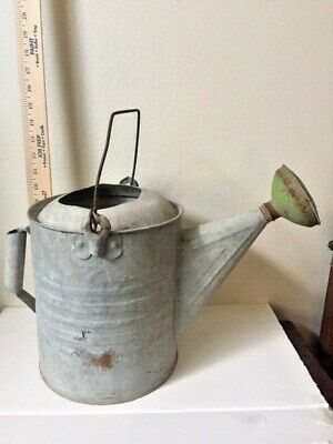 Collectibles, Home & Garden, Watering Can, Galvanized w/Brass, 1900-1940, USA