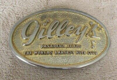 Vintage Gilley's Pasadena Texas Belt Buckle By Southwest Buckle Designs