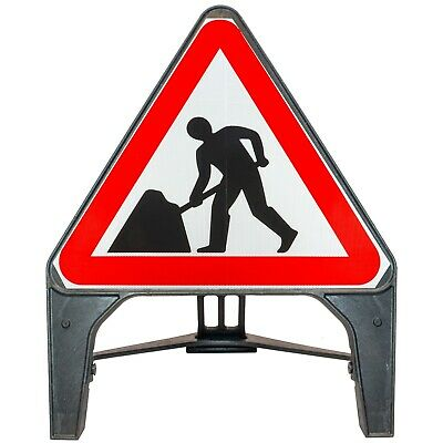 Men At Work 750mm Plastic Road Traffic Sign