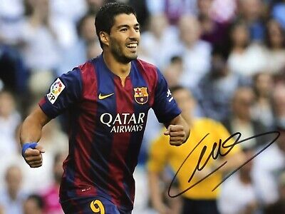 "LUIS SUAREZ,GENUINE HAND SIGNED 8"" x 12"" PHOTO,+ COA,LIFE TIME GUARANTEE"