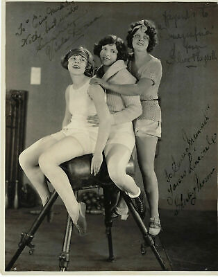 Viola Dana+Shirley Mason+Edna Flugrath Signed By 3 Photo-Buster Keaton+Arbuckle