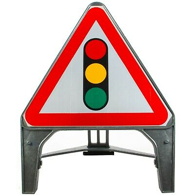 Traffic Signals Ahead 750mm Plastic Road Traffic Sign