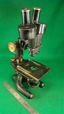 Vintage Bausch & Lomb Professional Stereo Microscope Brass Hardware 55.0 mm