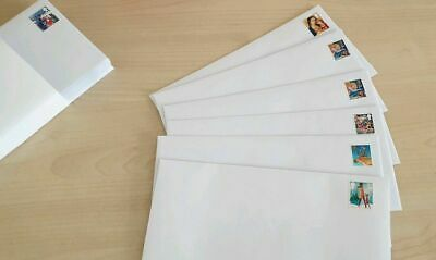 PRE STAMPED DL ENVELOPES 2nd CLASS STAMPS x 100