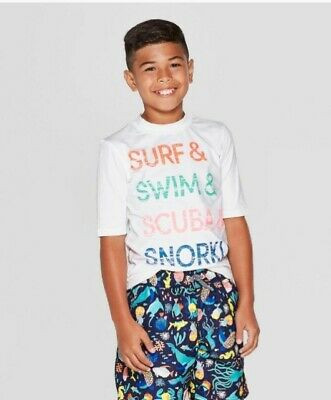 Cat and Jack  Boy's  Size S Small(6-7) Swim Shirt  NEW