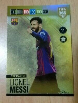 Panini FIFA 365 2019 Rare Lionel Messi Top Master 2018 18/19 Adrenalyn 5
